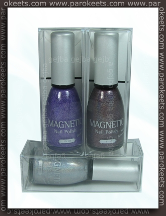 Magnetic: Powerful Purple, Spact. Stone, Shimmering Silver