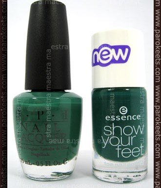 OPI - Jade is the New Black vs. Essence - In the Jungle