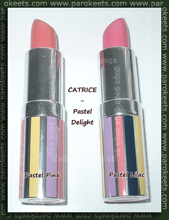 CATRICE Pastel Delight lipsticks Pink Lilac