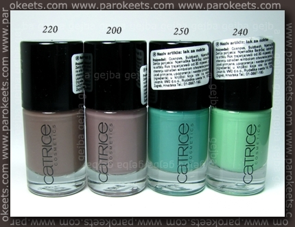 Catrice Ultimate Nail Lacquer: 200, 220, 240, 250