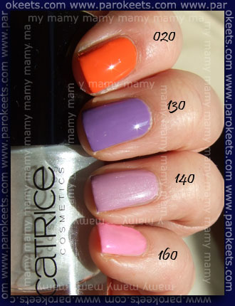 Catrice Ultimate Nail Lacquer 020,130,140,160