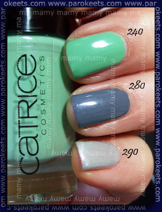 Catrice Ultimate Nail Lacquer swatch 240,280,290