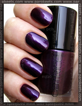 Catrice Poison Me, Poison You!, China Glaze - Let's Groove swatch and comparison