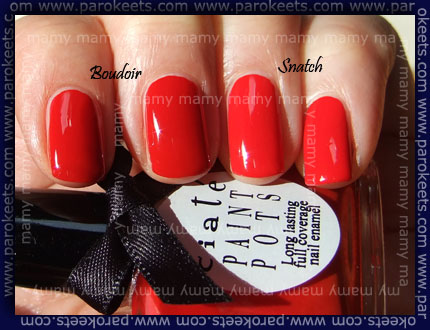 Ciate Paint Pots: Boudoir and Snatch, swatch