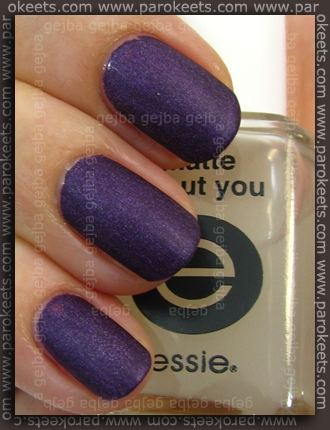 Color Club - Wild At Heart + Essie Matte About You swatch