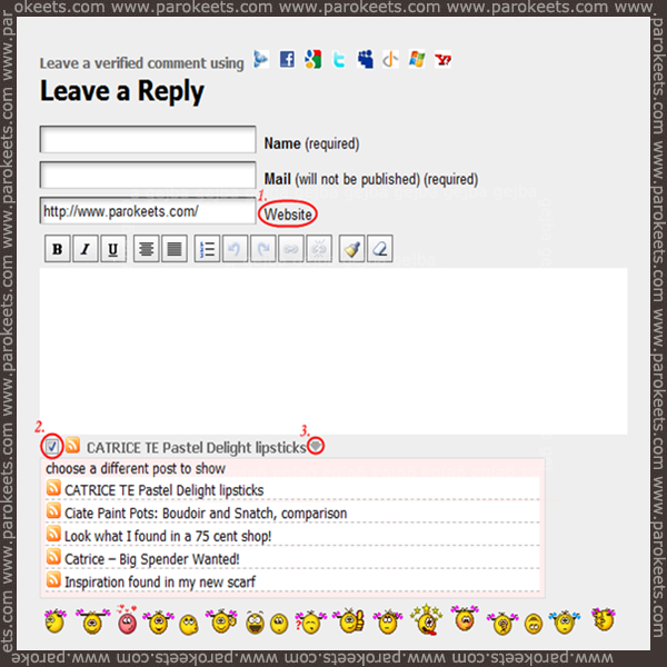 How to use CommentLuv on Parokeets blog