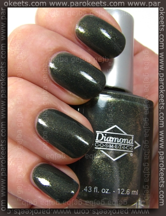 Diamond Cosmetics Never So Ever Green swatch