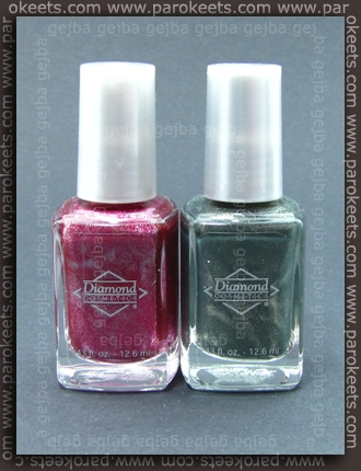 Diamond Cosmetics: Never So Ever-Green; Sparkling Sherry