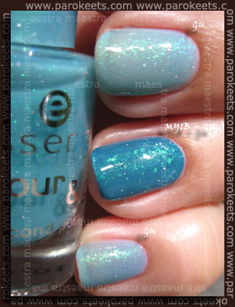 Swatch: Essence - Meet You In Budapest, Essence - Glisten Up!