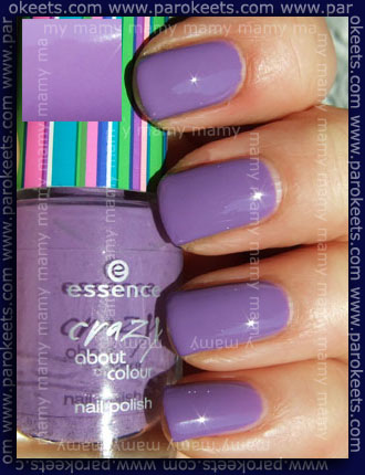 Essence Crazy About Colour: Lilac Forever, swatch