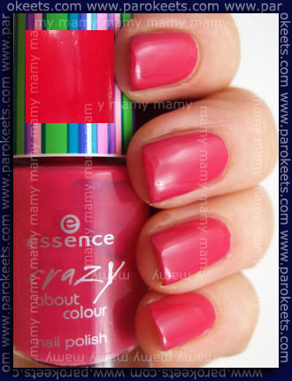 Essence TE Crazy About Colour, Think Pink, swatch