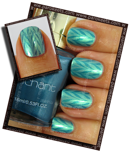 Konadicure: Inglot - 321 + Konad m78 with Enachant - 7