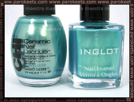 Comparison: Inglot - 321 vs. CHI - Hypnotized