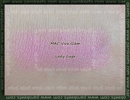 MAC Viva Glam Lady Gaga lipstick swatch