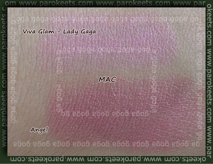 mac lady gaga lipstick swatch. MAC Viva Glam Lady Gaga;