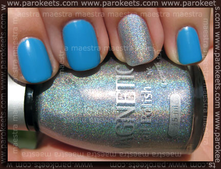 Swatch: Magnetic: Blue Curacao, Shimmering Silver