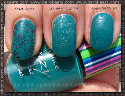 Magnetic polishes with A05 fauxnad plate swatch