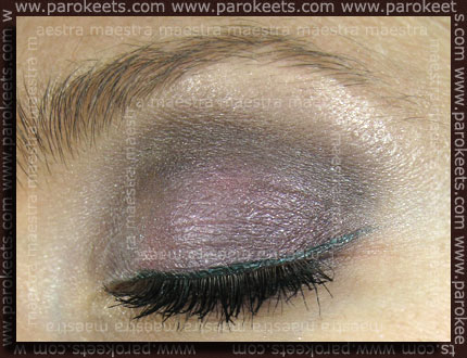 EOTD: Sweetscents: Carbon, Satin Slipper and The She Space: Wilted Roses, Baited Breathe and Alverde - Smaragd gel liner