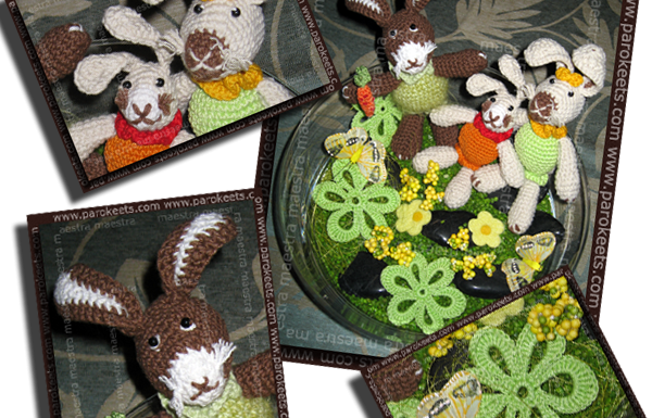 The Rabbit Family - crochet