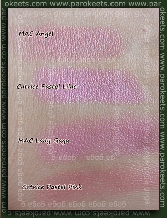 Catrice, MAC lipstick swatch