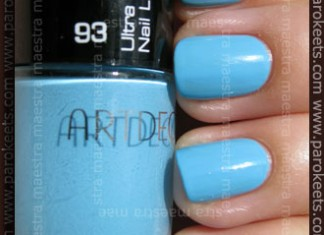 Swatch: Artdeco - Ultra Quick Dry Nail Lacquer - 93 blue lagoon