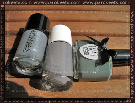 Comparison: Essence - Pointbreak vs. Ciate - Vintage vs. Catrice - London's Weather Forecast