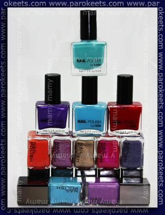 H&M nail polishes