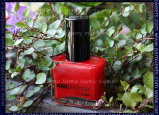 H&M - Red Nail; swatch, bottle