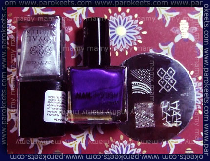 H&M Fashionista + Catrice TC Silver Nights + konad m72, swatch