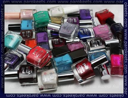 H&M, P2, Esprit, nail polish