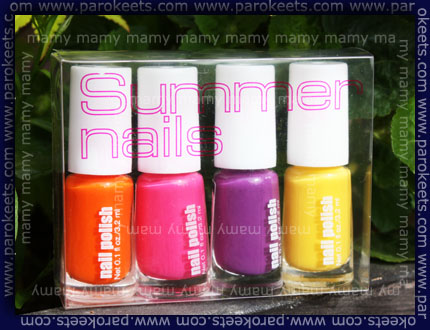 H&M - Summer Nails, komplet