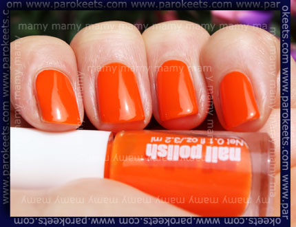 H&M - Summer Nails, Neon Orange, sun