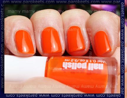 H&M - Summer Nails, Neon Orange, sun
