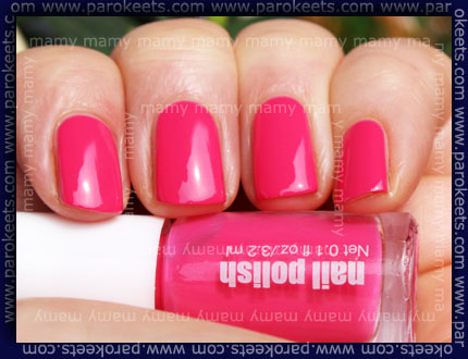 H&M - Summer Nails, Neon Pink, sun