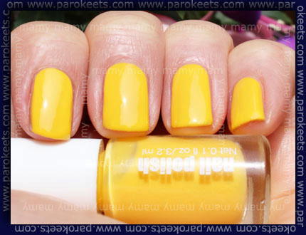 H&M - Summer Nails, Neon Yellow, sun