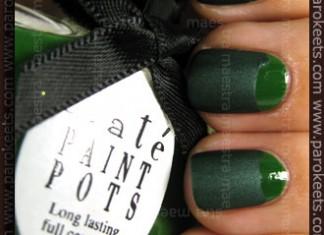 Swatch: Half Moon manicure: Ciate - Stiletto + Zoya - Veruschka