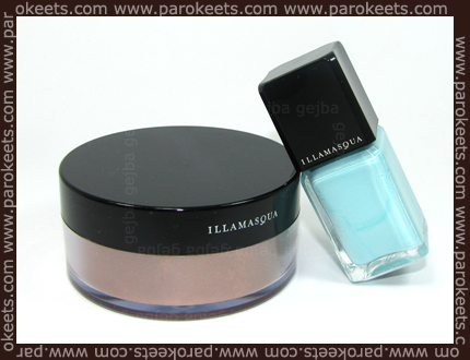 Illamasqua: polish in Nudge and Powdered Metal Thalia
