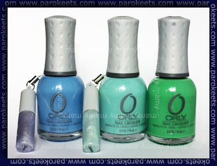 Orly: Snowcone, Gumdrop, Mint Mojito, bottles