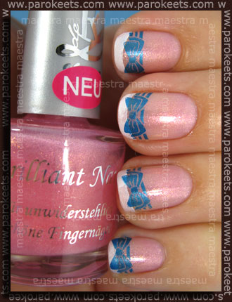 Rival de Loop - Touch Of Pink french manicure with Konad - P32 and m56