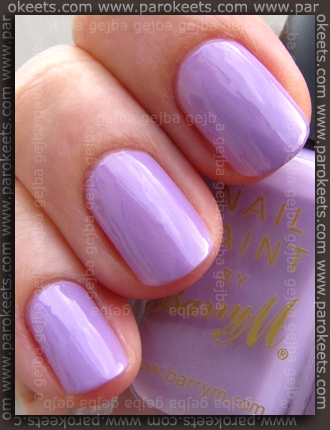 Barry M - Pale Purple swatch