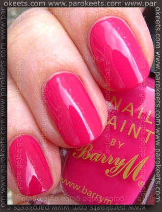 Barry M - Shocking Pink swatch