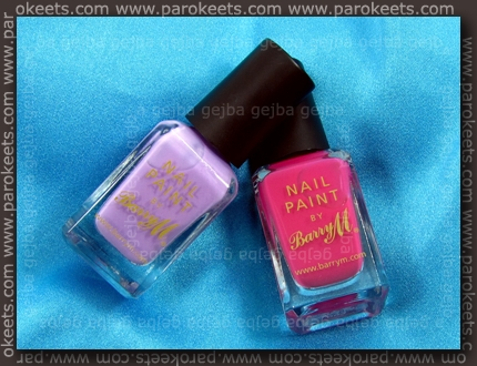Barry M: Shocking Pink, Pale Purple swatch