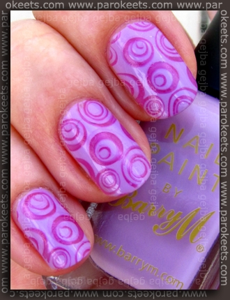 Barry M - Pale Purple + Shocking Pink fauxnad H1