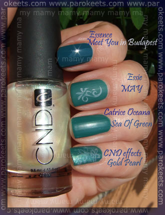 Catrice - LE Oceana, Sea Of Green, comparision