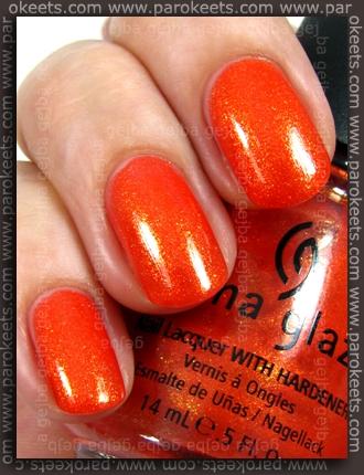 China Glaze - Orange Marmalade swatch