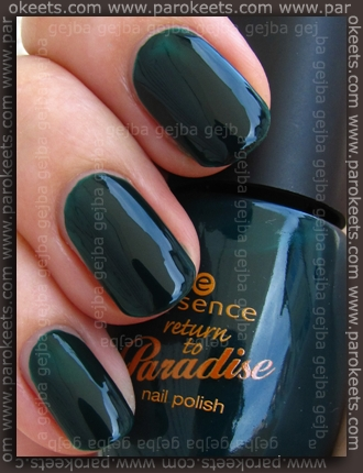 Essence Return To Paradise: Back To Paradise swatch