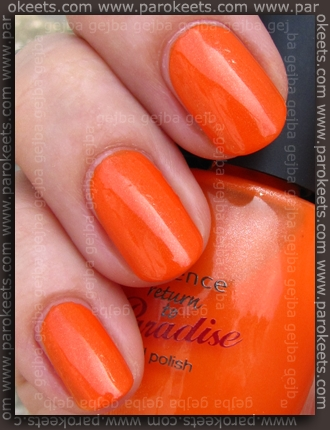 Essence Return To Paradise: Sun Downer swatch