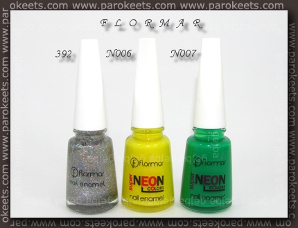 Flormar: 392, N006, N007 polishes