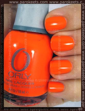 Swatch: Orly - Orange Punch