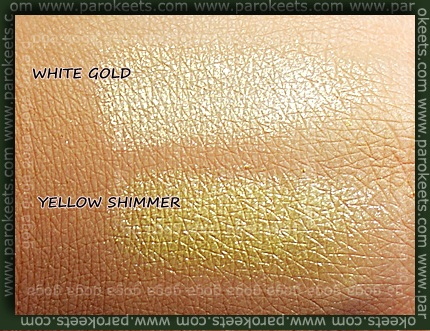 Sweetscents White Gold Yellow Shimmer